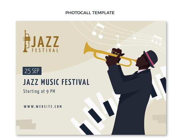 Photocall del festival di musica minimale piatto