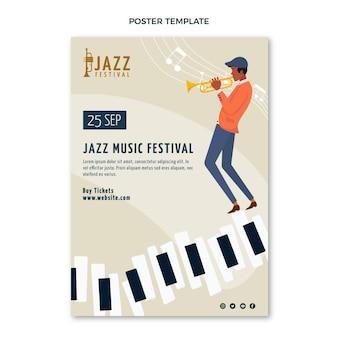 Flat minimal music festival poster