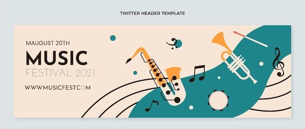 Плоский минимальный музыкальный фестиваль twitter header