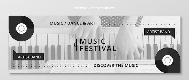 Flat minimal music festival twitter header