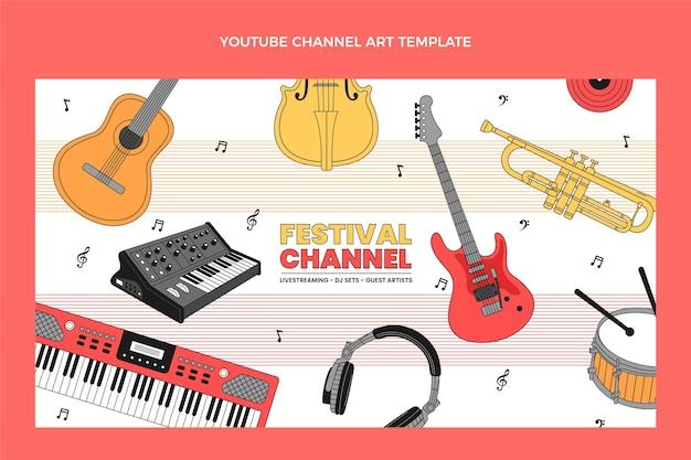 Flat minimal music festival youtube channel art