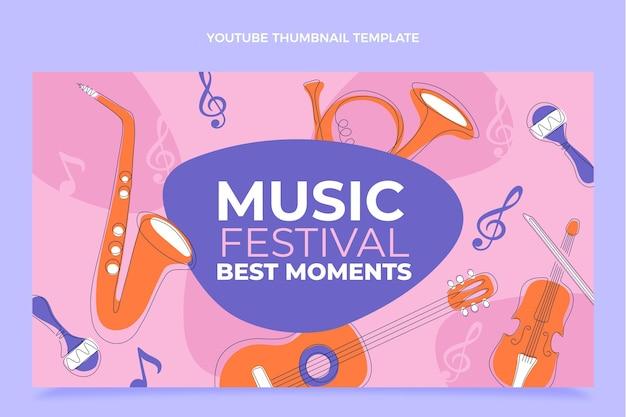 Миниатюра на youtube с плоским минимальным музыкальным фестивалем