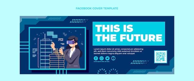 Copertina facebook piatta con tecnologia minimale