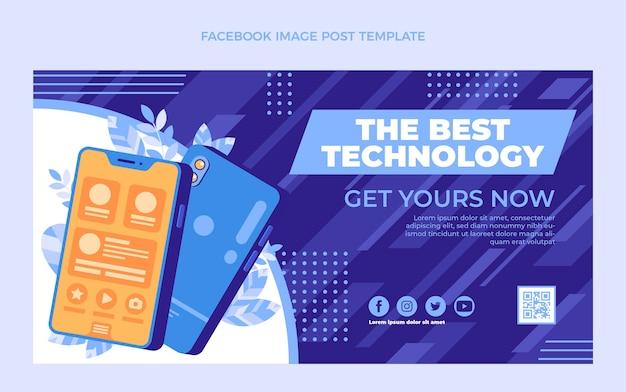 Плоский минималистичный пост в фейсбуке