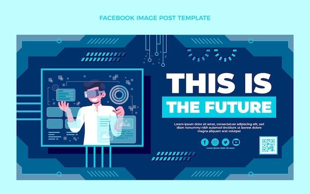 フラットミニマルテクノロジーfacebookの投稿