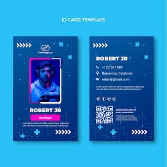 Flat minimal technology id card