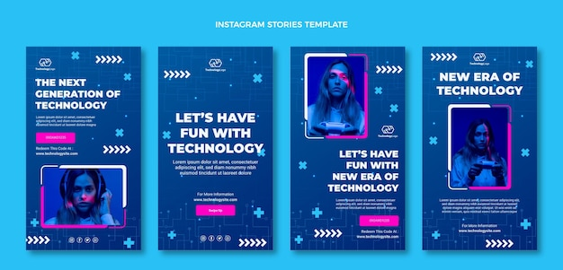 Flat minimal technology instagram stories