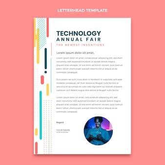 Flat minimal technology letterhead template