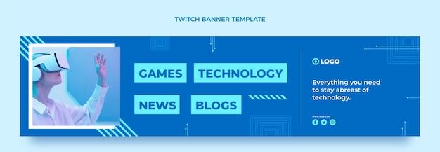 Banner di contrazione con tecnologia minimale piatta