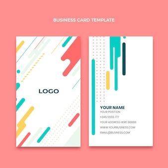 Плоский минималистичный шаблон вертикальной визитки