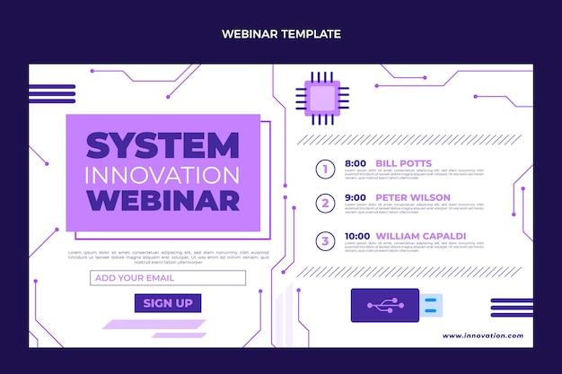 Плоский минималистичный шаблон веб-семинара