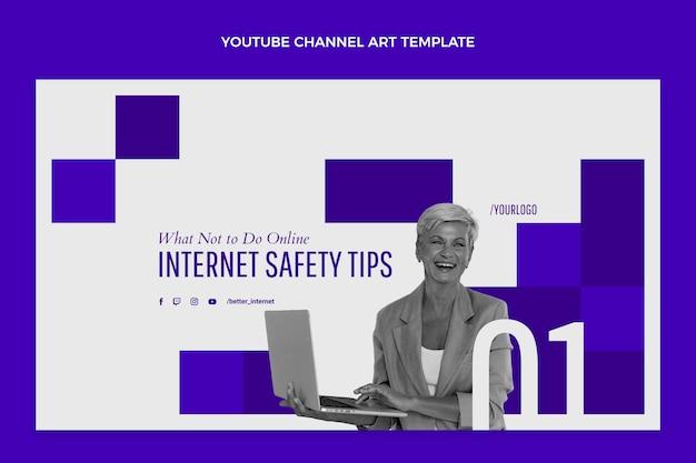 Flat minimal technology youtube channel art