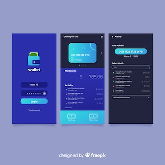 Flat mobile app cover