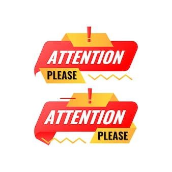 Flat modern attention please banner template