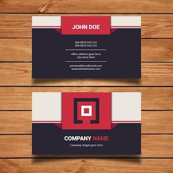 Flat modern business card design