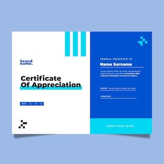 Flat modern certificate of appreciation