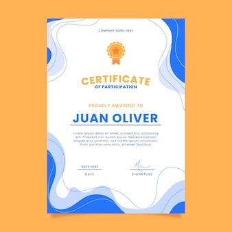 Flat modern certificate of participation