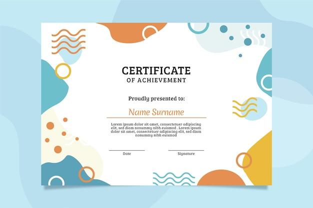 Flat modern certificate template