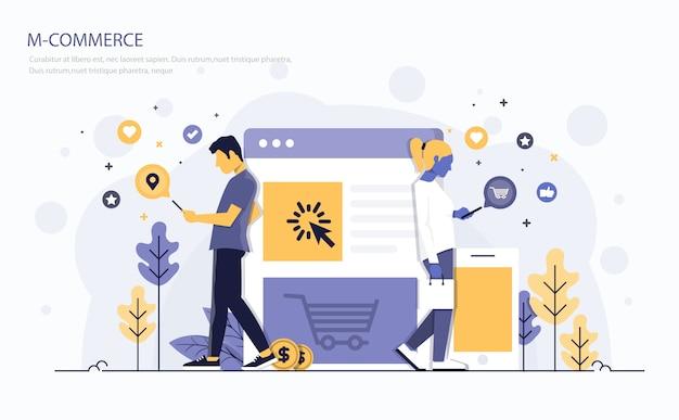Flat modern concept illustration