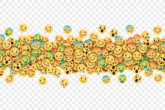Flat modern facebook emoticons conceptual abstract illustration