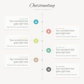 Flat modern infographic vector timeline business concept