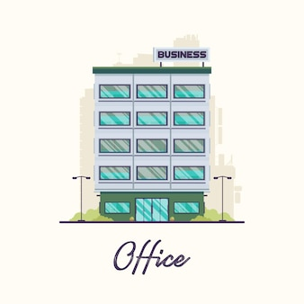 Flat modern office building in town