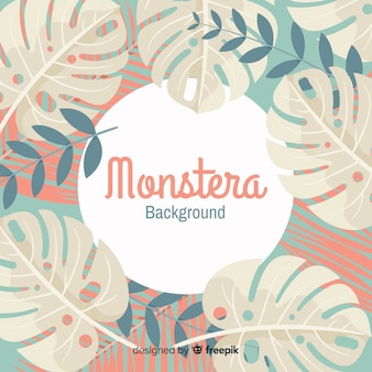 Flat monstera background