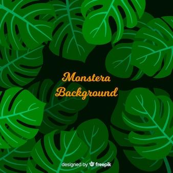 Flat monstera background