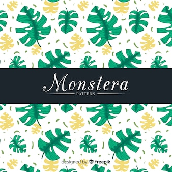 Flat monstera pattern