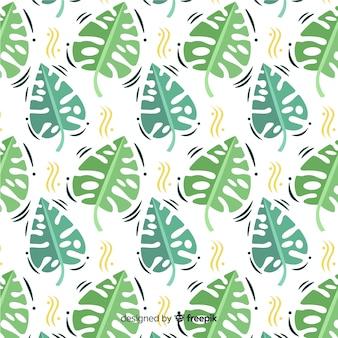 Flat monstera pattern