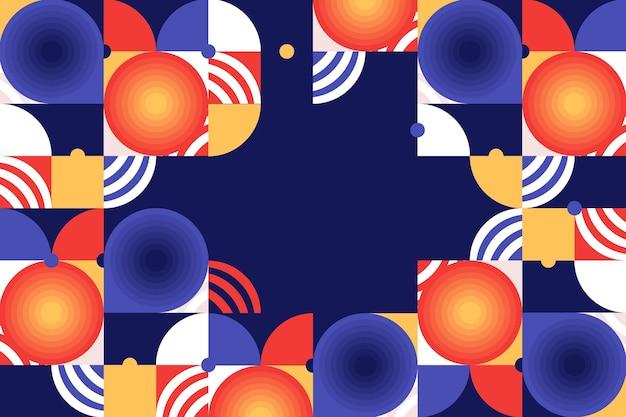 Плоский мозаичный фон Бесплатные векторы