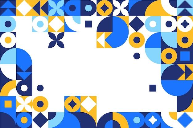Flat mosaic background