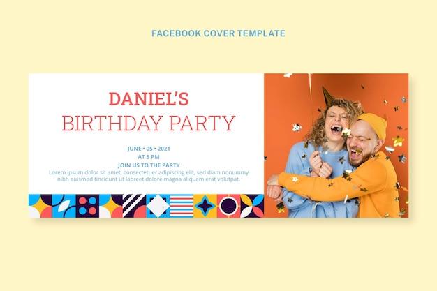 Copertina facebook compleanno mosaico piatto