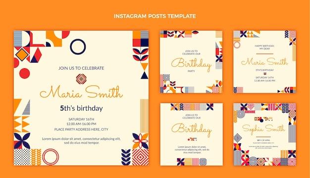 Плоская мозаика на день рождения ig post