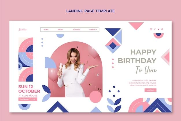フラットモザイクの誕生日のランディングページ