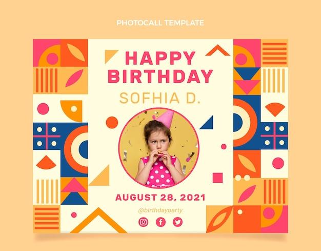 Flat mosaic birthday photocall
