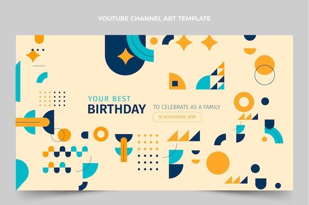 Плоская мозаика на день рождения youtube channel