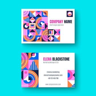 Плоская мозаика шаблон визитной карточки