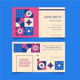 Flat mosaic business card