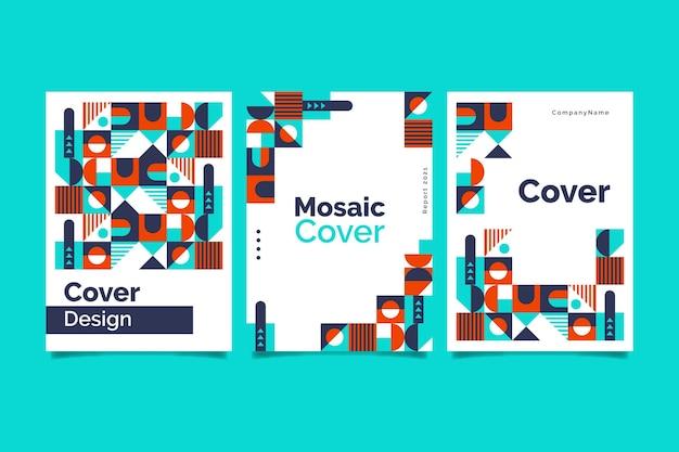 Flat mosaic cover set