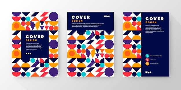 Flat mosaic covers collection