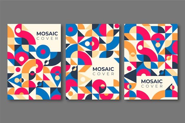Collezione di copertine a mosaico piatto