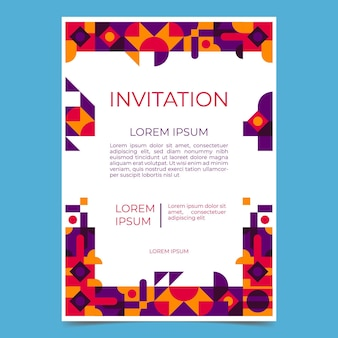 Плоское мозаичное приглашение