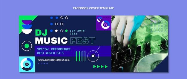 평면 모자이크 음악 축제 페이스북 커버