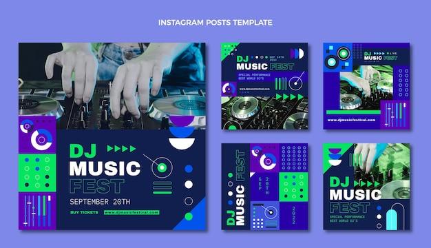 Flat mosaic music festival instagram post