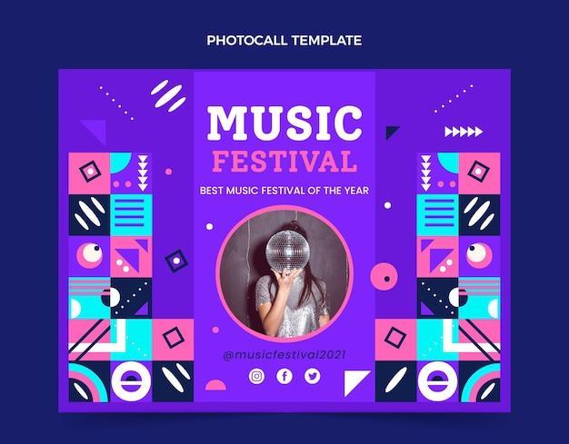 Flat mosaic music festival photocall