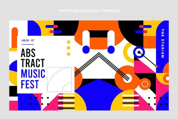 Плоский мозаичный музыкальный фестиваль подергивание фона