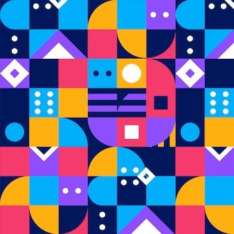 Flat mosaic pattern design Free Vector