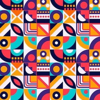 Flat mosaic pattern design