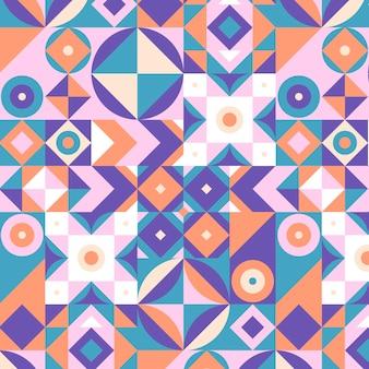 フラットモザイクパターンデザイン